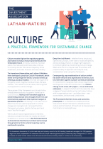 Front cover image of Culture Brief